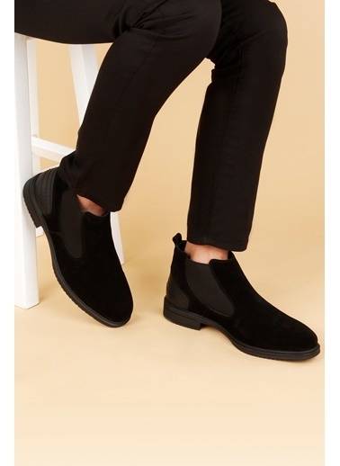 Ayakland Ayakland Hrz 099 Nubuk Deri Kauçuk Taban Erkek Bot Ayakkabı Siyah